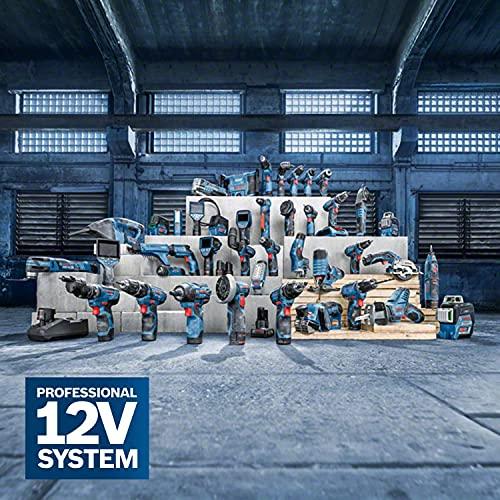 Bosch Professional Akku Stichsäge GST 12V-70 (ohne Akku, 2x Sägeblatt, Gleitschuh, Spanreißschutz, Koffer, Schnitttiefe in Holz: 70 mm, 12 Volt) - 2
