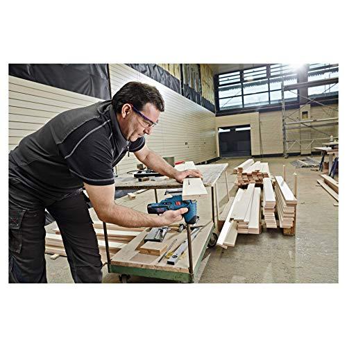 Bosch Professional Akku Stichsäge GST 12V-70 (ohne Akku, 2x Sägeblatt, Gleitschuh, Spanreißschutz, Koffer, Schnitttiefe in Holz: 70 mm, 12 Volt) - 6